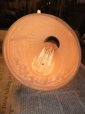 1930's駱駝柄ミルクペンダントライト 写真7枚目 アンティーク照明 ビンテージ ランプ