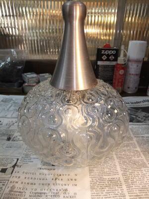 日本製 1970sアンティーク照明 ビンテージペンダントライト 幾何学模様 ランプ 福岡 写真5枚目