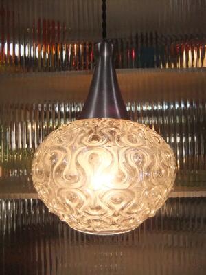 日本製 1970sアンティーク照明 ビンテージペンダントライト 幾何学模様 ランプ 福岡 写真1枚目