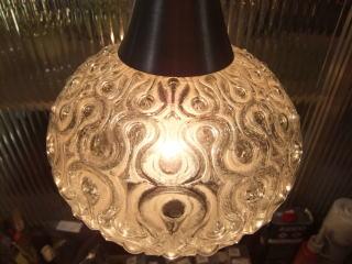 日本製 1970sアンティーク照明 ビンテージペンダントライト 幾何学模様 ランプ 福岡 写真8枚目