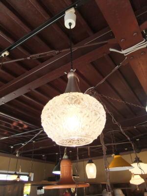 日本製 1970sアンティーク照明 ビンテージペンダントライト 幾何学模様 ランプ 福岡 写真6枚目