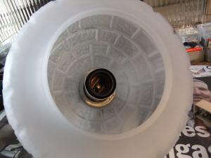 1970's擦りガラスペンダントライト 写真4枚目 アンティーク照明 ビンテージ ランプ