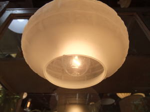 1970's擦りガラスペンダントライト 写真5枚目 アンティーク照明 ビンテージ ランプ