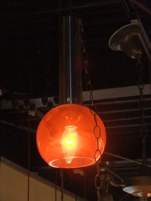 オレンジペンダント 1枚目の写真 アンティーク照明 ランプ 福岡