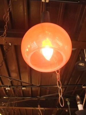 オレンジペンダント 3枚目の写真 アンティーク照明 ランプ 福岡