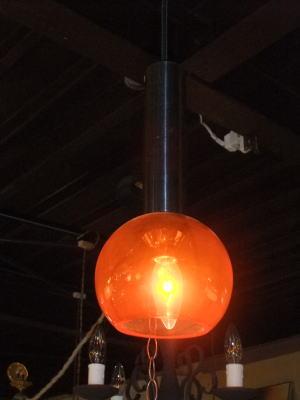 オレンジペンダント 4枚目の写真 アンティーク照明 ランプ 福岡