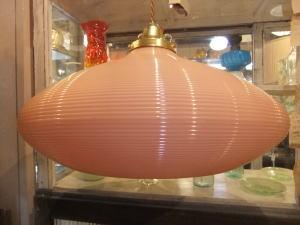 1970'sオレンジ樹脂ペンダントライト 写真3枚目 アンティーク照明 ビンテージ ランプ 福岡