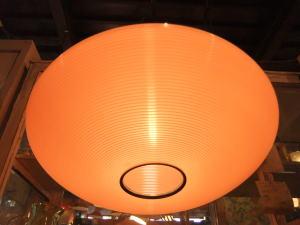1970'sオレンジ樹脂ペンダントライト 写真2枚目 アンティーク照明 ビンテージ ランプ 福岡