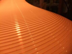 1970'sオレンジ樹脂ペンダントライト 写真8枚目 アンティーク照明 ビンテージ ランプ 福岡