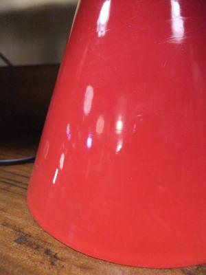 レッドペンダント 3枚目の写真 アンティーク照明 ランプ 福岡