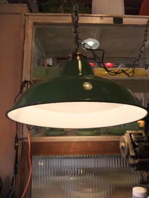 日本製 1970sアンティーク照明 ビンテージポーセリンペンダントライト 琺瑯 ランプ 福岡 写真3枚目