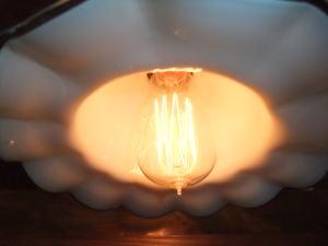 ブルー&ホワイトペンダント 2枚目の写真 アンティーク照明 ランプ 福岡