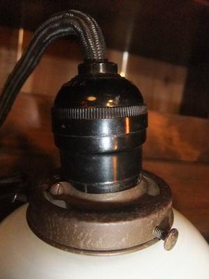 ブルー&ホワイトペンダント 5枚目の写真 アンティーク照明 ランプ 福岡