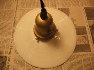 1910'sミルクガラスペンダントライト 写真4枚目 アンティーク照明 ビンテージ ランプ