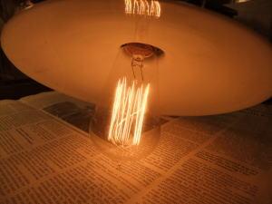 1910'sミルクガラスペンダントライト 写真8枚目 アンティーク照明 ビンテージ ランプ