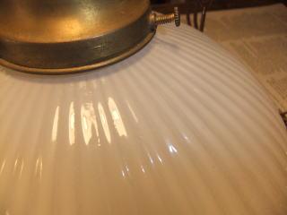 1940'sミルクガラスチェーンペンダントライト 写真7枚目 アンティーク照明 ビンテージ ランプ