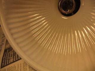 1940'sミルクガラスチェーンペンダントライト 写真9枚目 アンティーク照明 ビンテージ ランプ