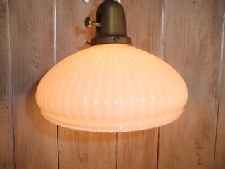 1940'sミルクガラスチェーンペンダントライト 写真12枚目 アンティーク照明 ビンテージ ランプ