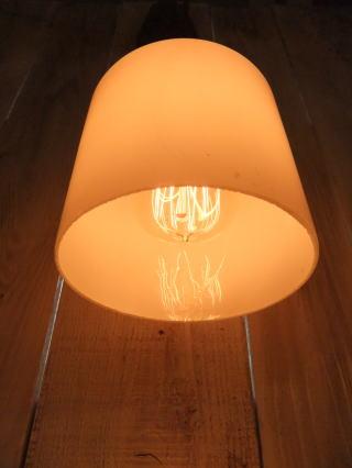 米国製 1940sアンティーク照明 ビンテージミルクガラスペンダントライト ランプ 写真4枚目