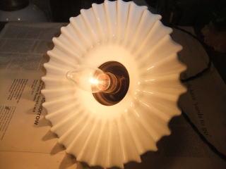 1970'sペチコートペンダントライト アンティーク照明 ランプ ビンテージ