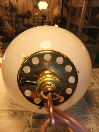 1950'sミルクボールペンダントライト 写真6枚目 アンティーク照明 ビンテージ ランプ