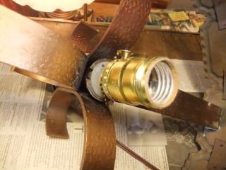 1970's昭和喫茶ペンダントライト 写真8枚目 アンティーク照明 ビンテージ ランプ