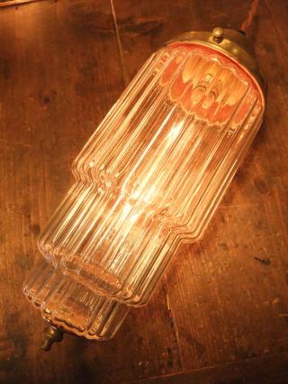 米国製 1970sアールデコシェード アンティーク照明 ビンテージペンダントライ ランプ 福岡 写真6枚目