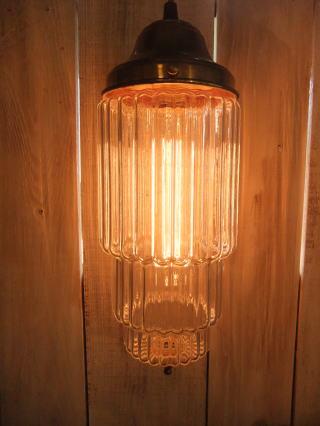 米国製 1970sアールデコシェード アンティーク照明 ビンテージペンダントライ ランプ 福岡 写真1枚目