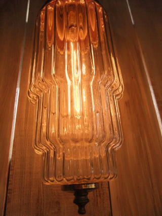 米国製 1970sアールデコシェード アンティーク照明 ビンテージペンダントライ ランプ 福岡 写真3枚目