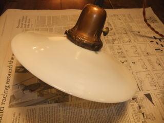 1920s アンティーク照明 ミルクペンダントライト 写真3枚目 ランプ 福岡