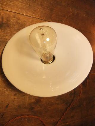 1920s アンティーク照明 ミルクペンダントライト 写真2枚目 ランプ 福岡