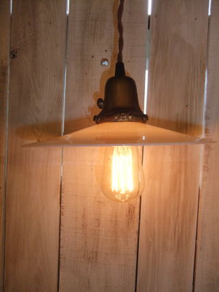 1920s アンティーク照明 ミルクペンダントライト 写真1枚目 ランプ 福岡