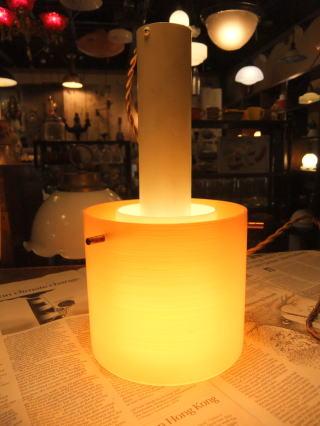 1970'sオレンジペンダントライト 写真6枚目 アンティーク照明 ビンテージ ランプ 福岡