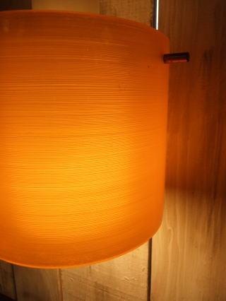 1970'sオレンジペンダントライト 写真4枚目 アンティーク照明 ビンテージ ランプ 福岡