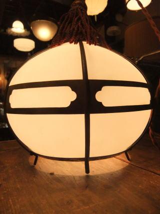 和風擦りガラスペンダントライト 写真5枚目 アンティーク照明 ビンテージ ランプ 福岡