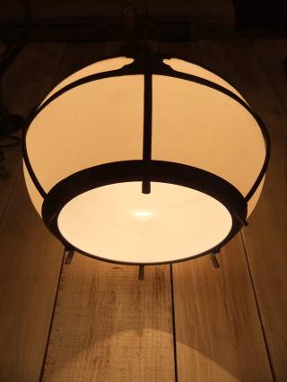 和風擦りガラスペンダントライト 写真4枚目 アンティーク照明 ビンテージ ランプ 福岡