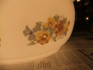 花柄ミルクペンダントライト 8枚目の写真 アンティーク照明 ランプ 福岡