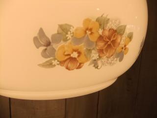 花柄ミルクペンダントライト 7枚目の写真 アンティーク照明 ランプ 福岡