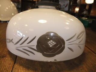 大正ロマン切子ペンダントライト 8枚目の写真 アンティーク照明 ランプ 福岡