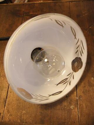 大正ロマン切子ペンダントライト 9枚目の写真 アンティーク照明 ランプ 福岡
