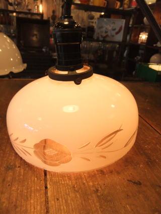 大正ロマン切子ペンダントライト 10枚目の写真 アンティーク照明 ランプ 福岡
