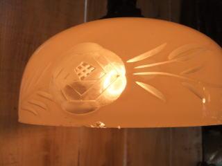 大正ロマン切子ペンダントライト 3枚目の写真 アンティーク照明 ランプ 福岡