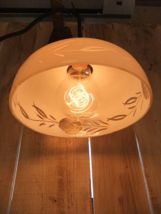 大正ロマン切子ペンダントライト 2枚目の写真 アンティーク照明 ランプ 福岡