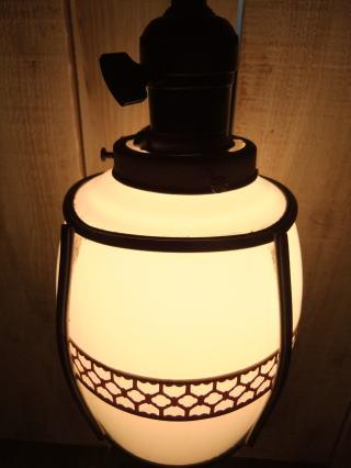 和風セルロイドペンダントライト 写真3枚目 アンティーク照明 ビンテージ ランプ 福岡