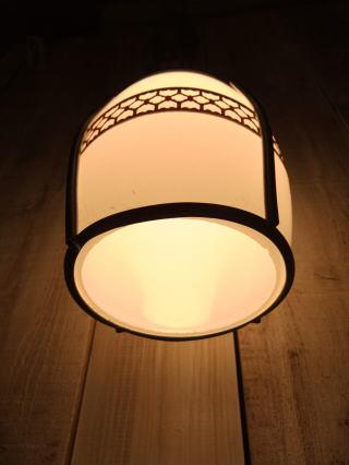 和風セルロイドペンダントライト 写真4枚目 アンティーク照明 ビンテージ ランプ 福岡