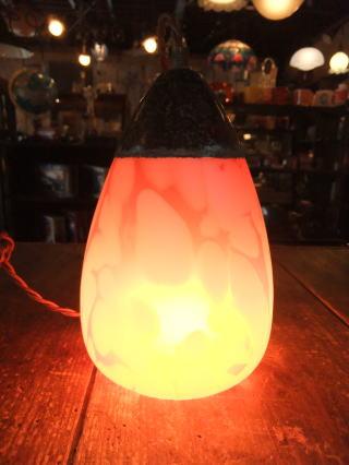 日本製 1950sアンティーク照明 ビンテージペンダントライト パッションカラーランプ 福岡 写真1枚目