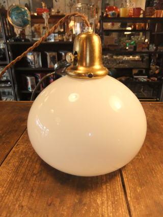 1950'sミルクペンダントライト アンティーク照明 ランプ ビンテージ