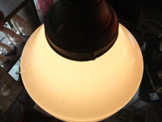 1940'sアダムスキー型ペンダントライト アンティーク照明 ランプ ビンテージ
