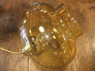 1970'sアンバーペンダントライト アンティーク照明 ランプ ビンテージ