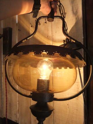 1970's山小屋風ペンダントライト アンティーク照明 ランプ ビンテージ